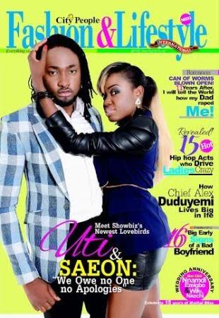 Uti Nwachukwu and his girlfriend cover City People Fashion and lifestyle