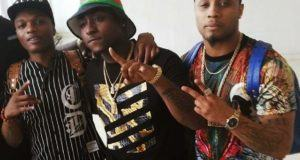 Wizkid and Davido spotted with B-red
