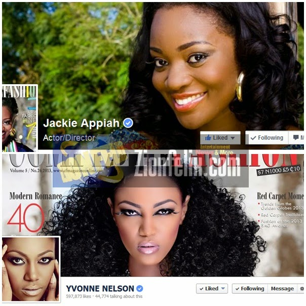 Yvonne Nelson & Jackie Appiah get verified on Facebook