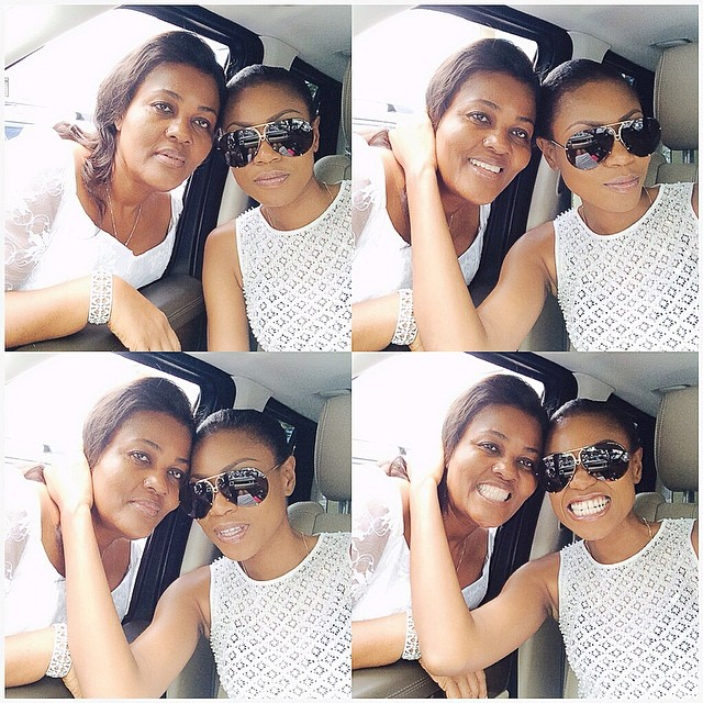 Yvonne nelson and her mum