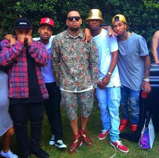 Chris Brown 2014 party