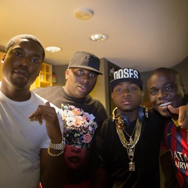 Davido & Meek Mill Hit The Studio In L.A