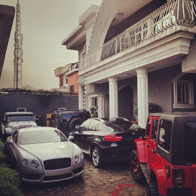 Peter Okoye luxurious cars