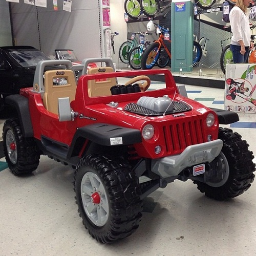 Peter buys a toy Wrangler jeep for his son