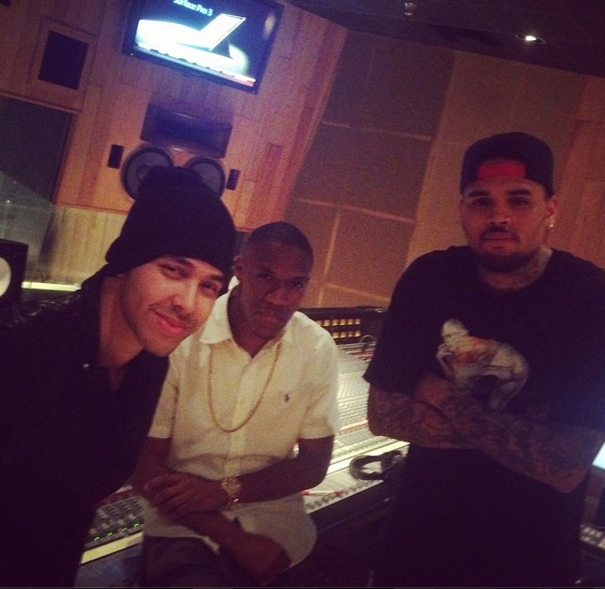 Wizkid chilling with Chris Brown