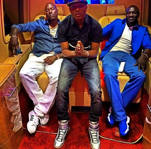 Wizkid party with Akon and Tyrese