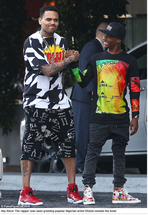 Wizkid spotted with Chris Brown