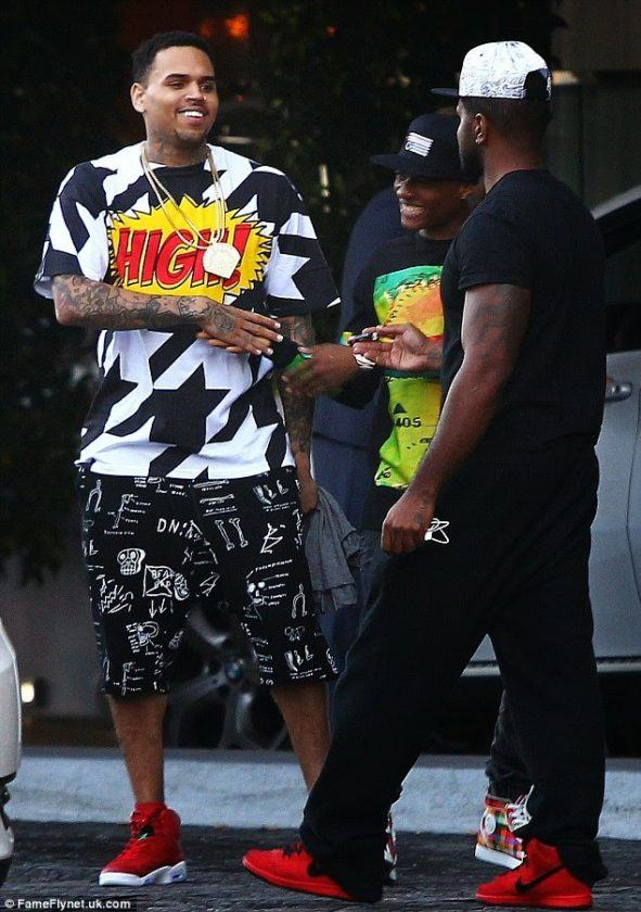 Wizzy spotted with Chris Brown