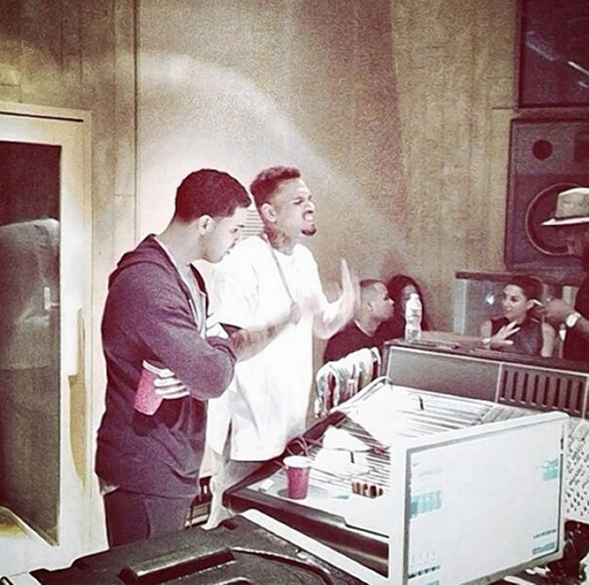 Chris Brown & Drake spotted in the studio together
