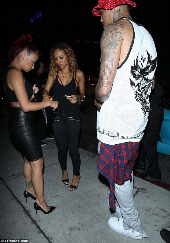 Chris Brown out with Karrueche