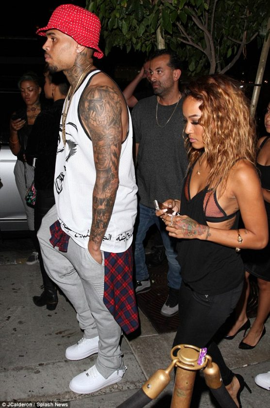 Chris Brown step out with Karrueche