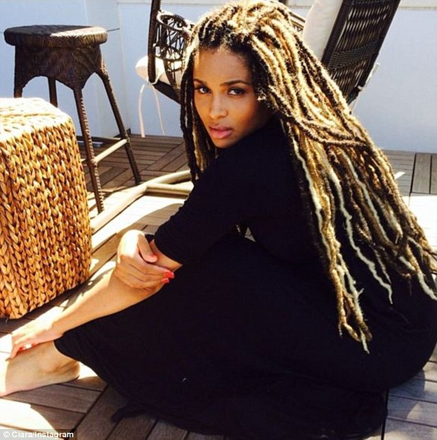 Ciara looking lovely as she now rocks dreads