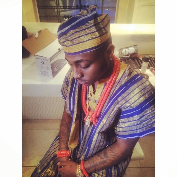 Davido swags up in Traditional