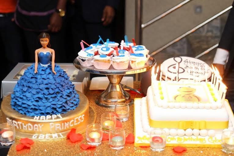 Photos as Banky W, Toolz, Omawumi others turn up for Gbemi OO's birthday