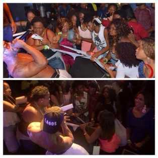 Iyanya's outfit ripped apart by female fans during performance