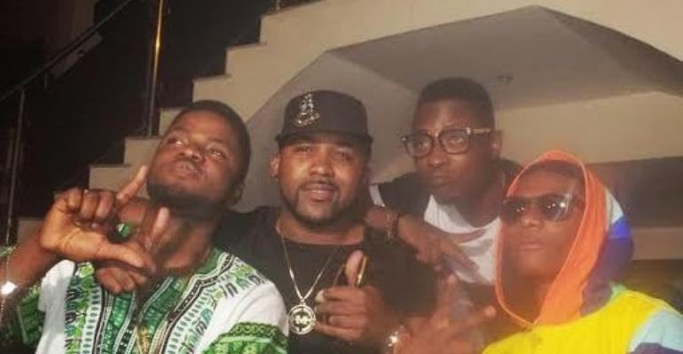 Photos as Skales, Banky W and others storm Wizkid's birthday party