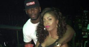 Tiwa Savage & TeeBillz cuddling at Elegushi Beach