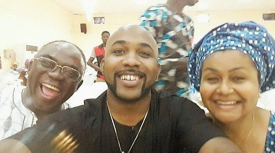 Banky W shares lovely selfie with his mom & dad