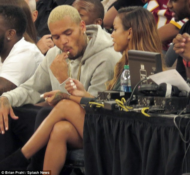 Chris Brown and Karrueche all loved up