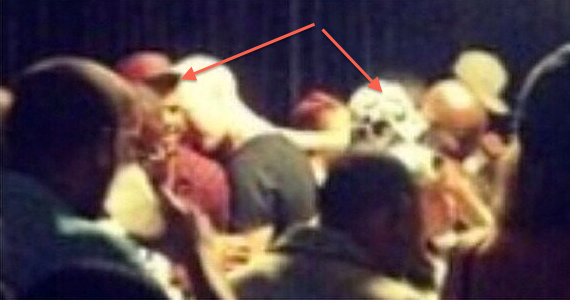 Chris Brown spotted with Rihanna at her concert