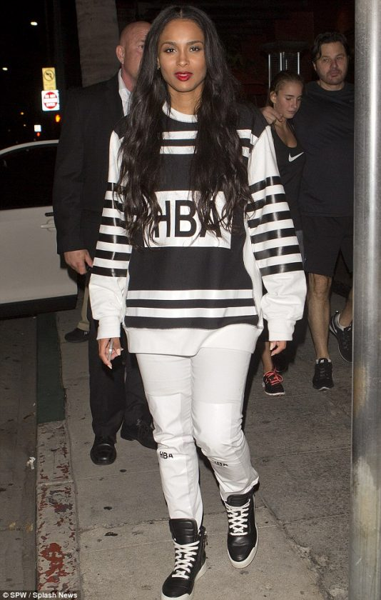 Ciara stepped out for dinner