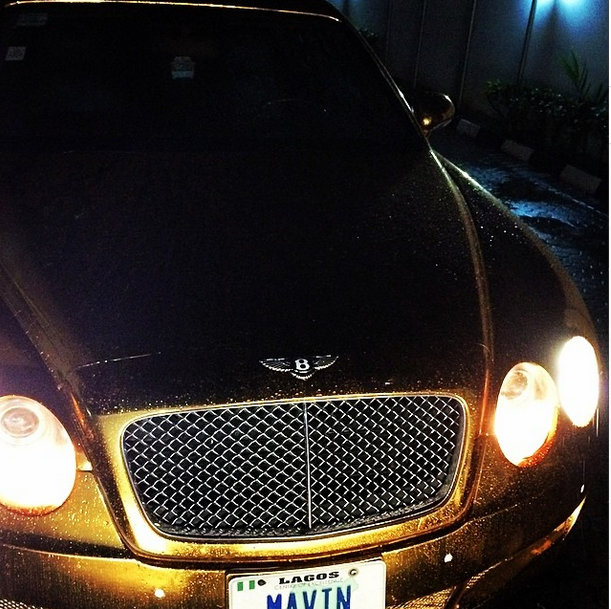 Don Jazzy's gold Bentley