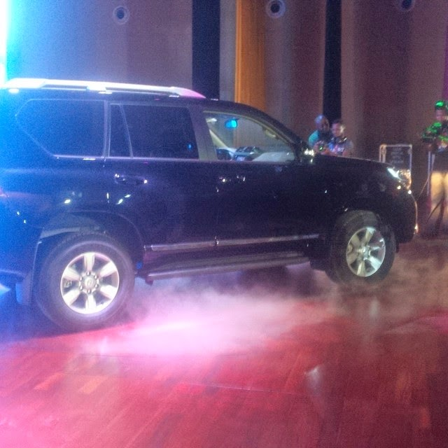 Don Jazzy gives Dr Sid and wife 2014 Land Cruiser Prado