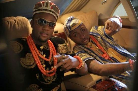 Kcee and Davido rock traditional attires