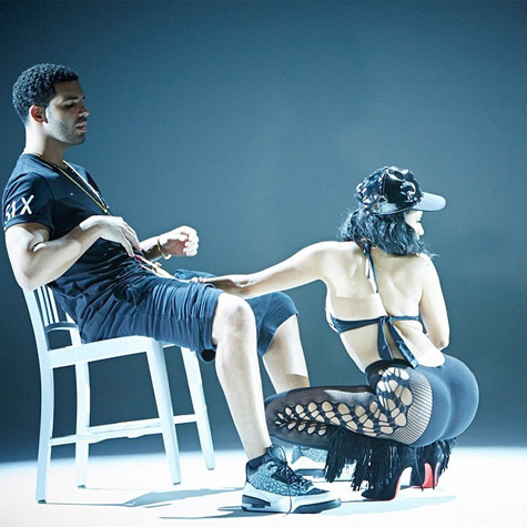 Nicki Minaj and Drake get freaky in Anaconda video shoot