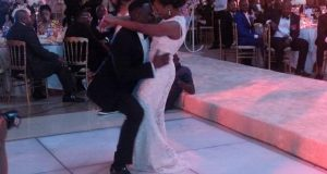 Simi and Dr Sid dancing
