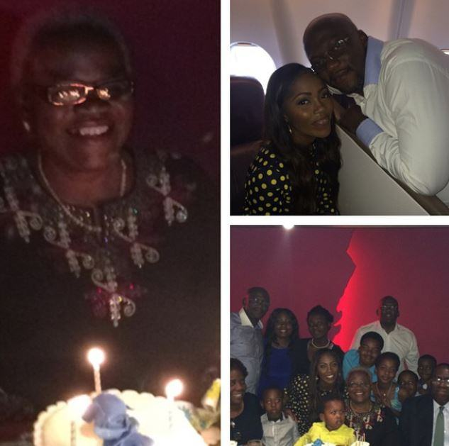 Tiwa Savage's mum's surprise birthday dinner