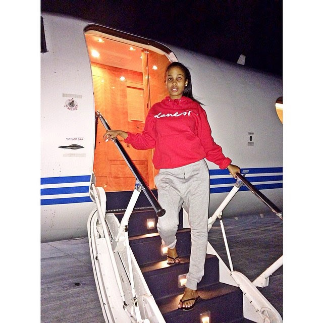 Tyrina Lee pictured on Future's private jet