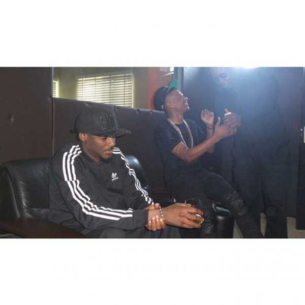 2face and Wizkid spotted in studio
