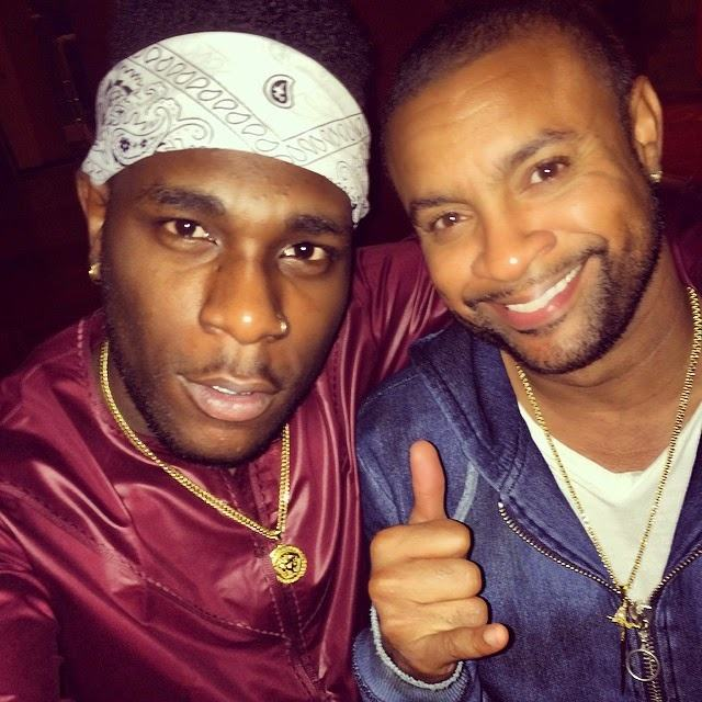 Burna Boy spotted with Shaggy
