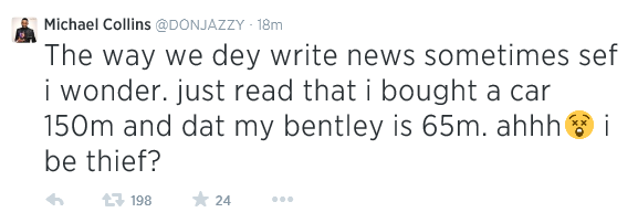 Don Jazzy denies his car collections is worth over N200 Million