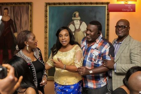 Friends at Monalisa Chinda's 40th birthday party