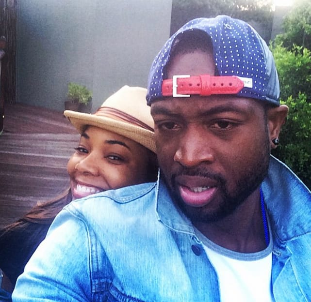 Gabrielle Union and Dwyane Wade's honeymoon selfie