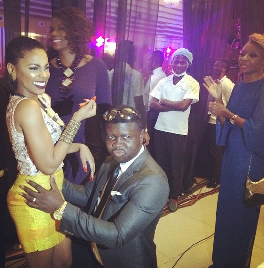 Seyi Law and Chidinma pose as lovers
