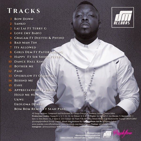 Timaya unveils track list for his new album 'Epiphany'