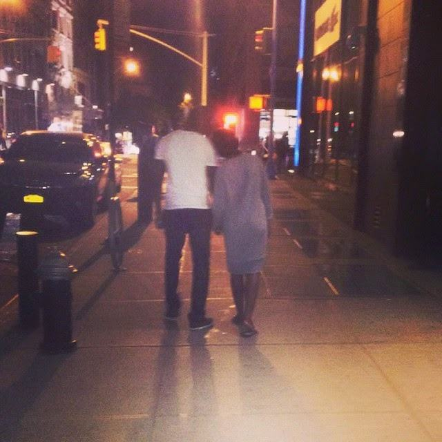 Tiwa Savage and Teebillz go on romantic night stroll in New York