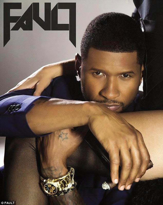Usher gets raunchy with models for Fault Magazine NaijaVibe
