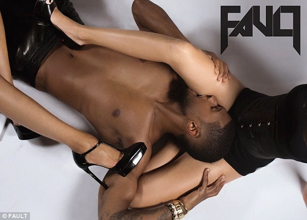 Usher gets raunchy with models for Fault Magazine