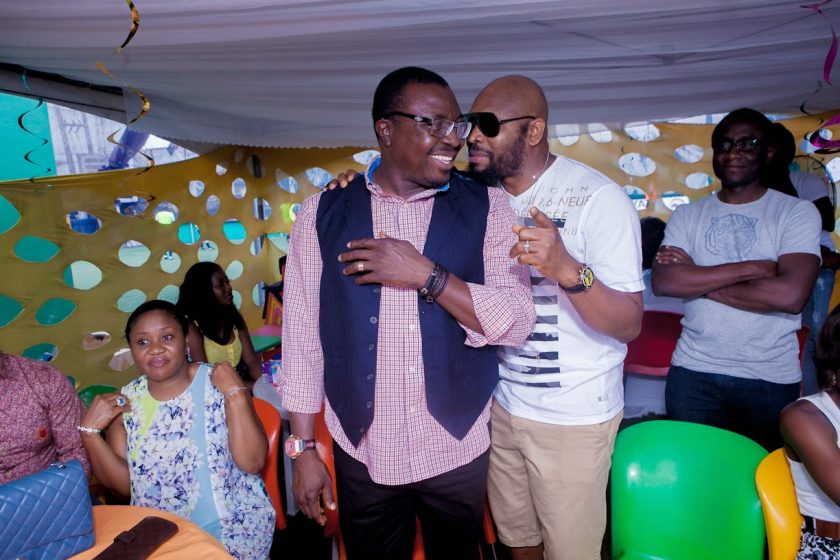 Alibaba and Yaw at Julius Agwus Childrens Birthday Party