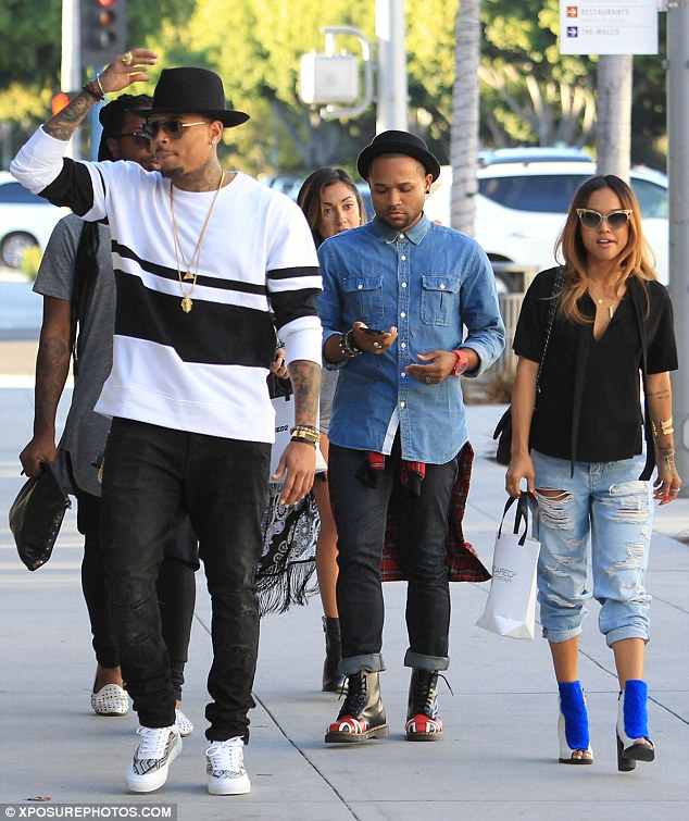 Chris Brown and Karrueche Tran out shopping in Beverly Hills