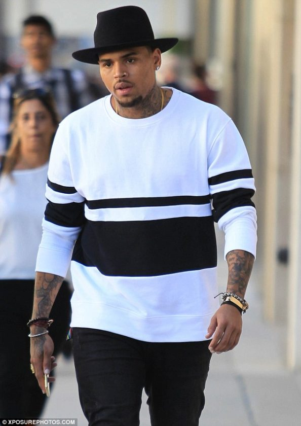 Chris Brown in Beverly Hills