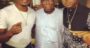 Davido and Olusegun Obasanjo