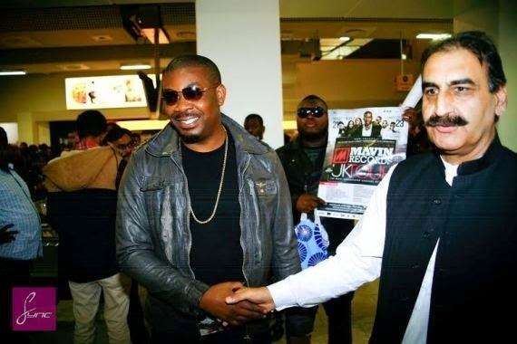 Don jazzy land at Heathrow airport