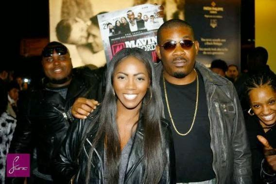 DonJazzy & Tiwa Savage land at Heathrow airport