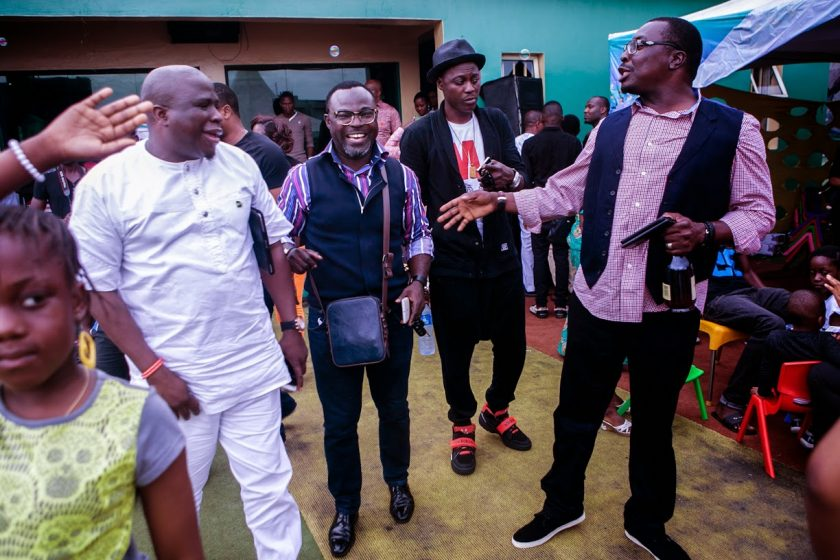 Gbenga Adeyinka, Alibaba, Sound Sultan attend Julius Agwus Childrens Birthday Party