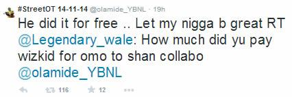 He recorded 'Omo To Shan' for free - Olamide defends Wizkid
